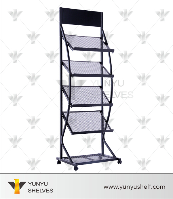 Gold Supplier Library Newspaper Magazine Display Stand Design