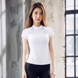 Hot Sale High Quality Sports Shirts Women Quick-Dry GYM Workout Running Yoga Shirts Tops