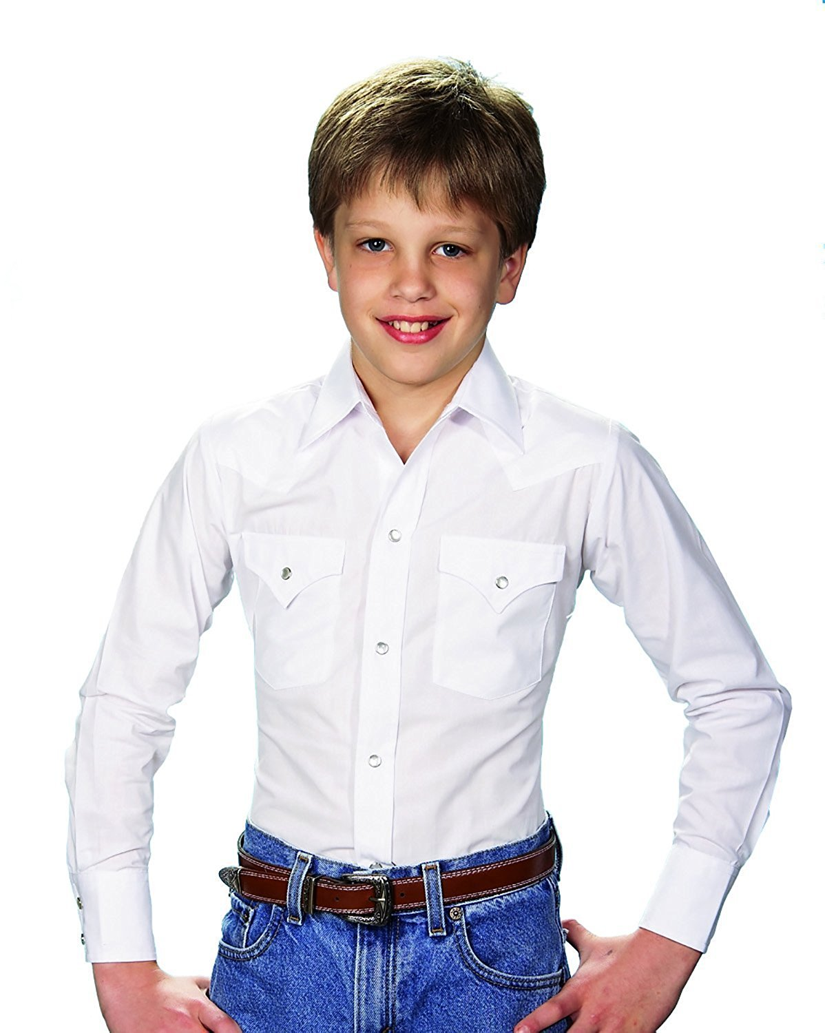 b8ea8979e6 Get Quotations · Ely Cattleman Long Sleeve Toddler Solid White Snap Western  Shirt