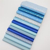12pcs/set----High Quality MIX STYLE BLUE color mix PU leather set