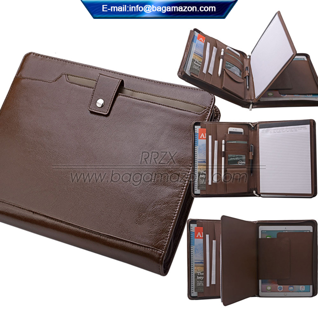 Business Portfolio Leather Portfolio Bestand Map Organizer A4 Size Lederen Padfolio