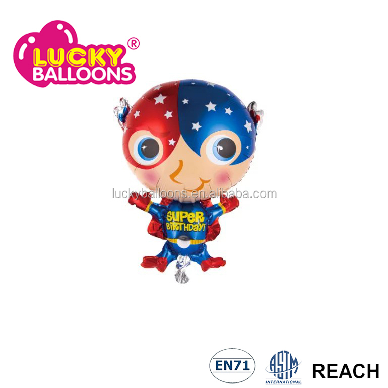 superman shape giant remax decoration foil balloons