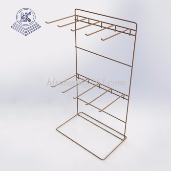 countertop metal wire hanging display rack