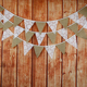 3.2Meter Rural Party Wedding Party Decoration Lace and Burlap Banners Bunting Pennants