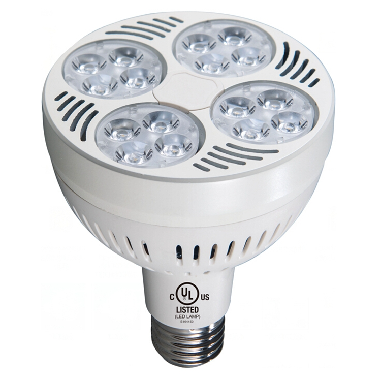 Factory price 8000k led swimming pool light par30 AC100-277V led bulb par30 35w led spotlight jewelry display