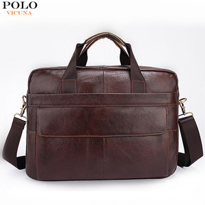 VICUNA POLO Wholesale Leather Big Designer Bags Men Business Briefcase Cowhide Messenger Bag Portable Laptop Computer Bag YH1115