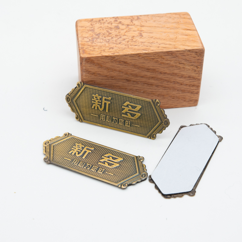<strong>Custom</strong> Embossed Tags Metal Stainless Steel nameplate Logo Name Plate Label