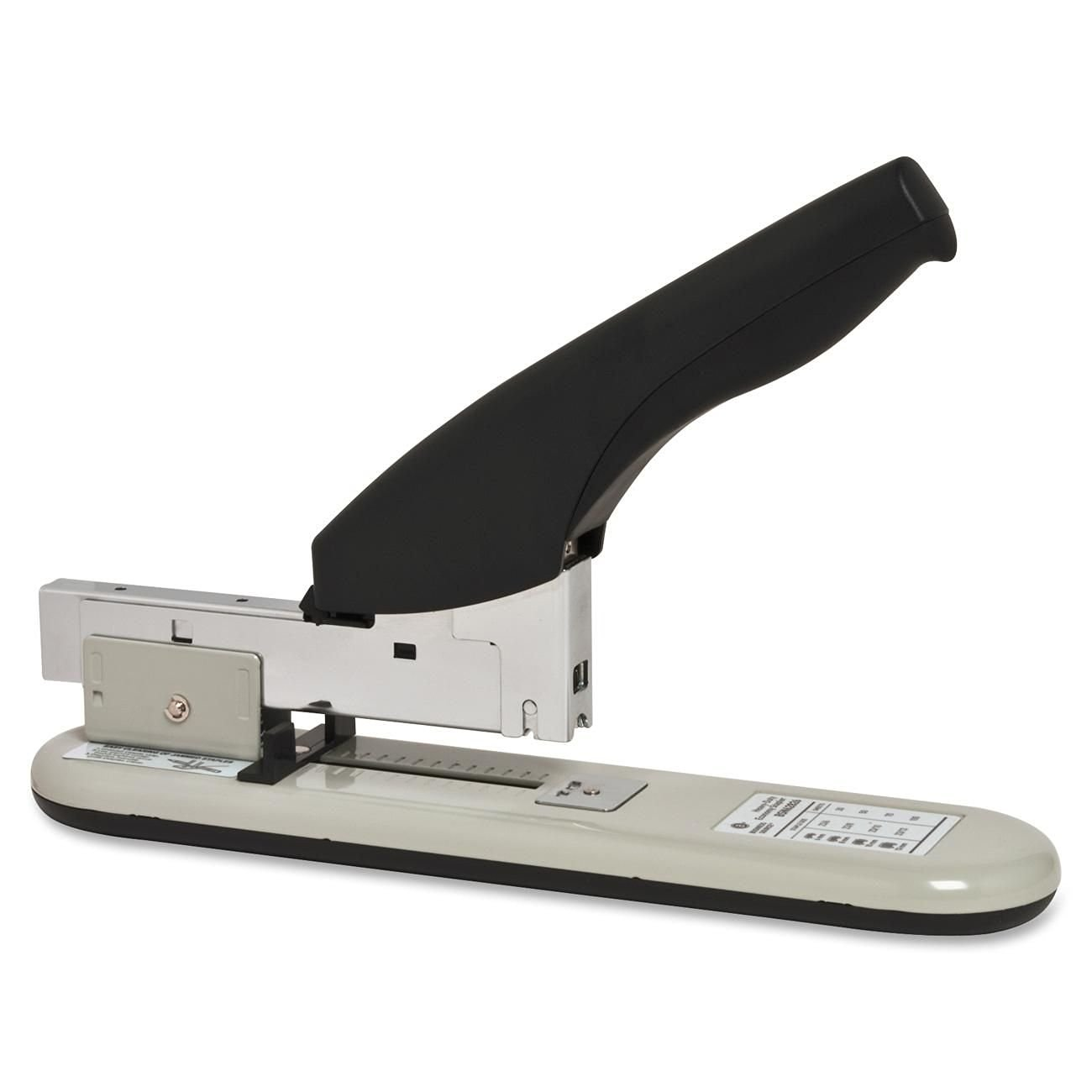 Business Source Heavy Duty Stapler, 100 Sheet Capacity, Putty/Beige (62826)