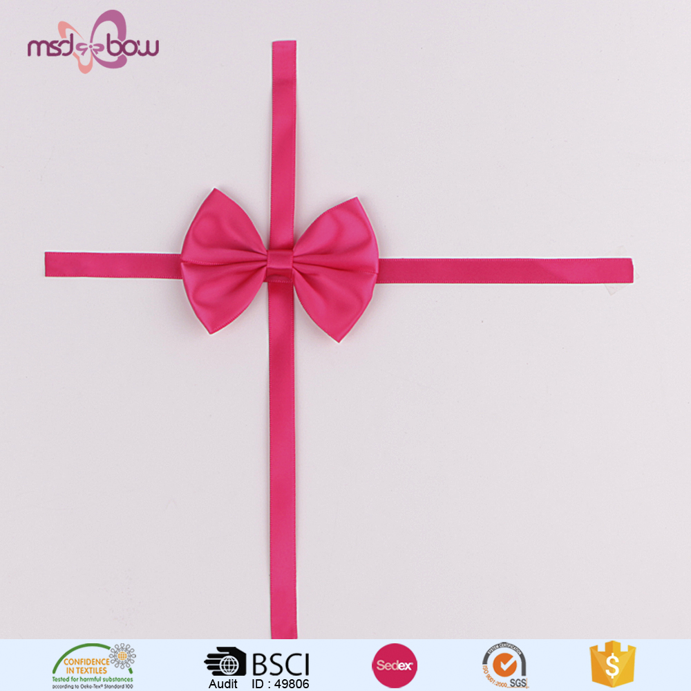 pink satin ribbon craft bows for gift box