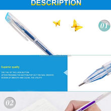 Colored plastic rollerball gel pen
