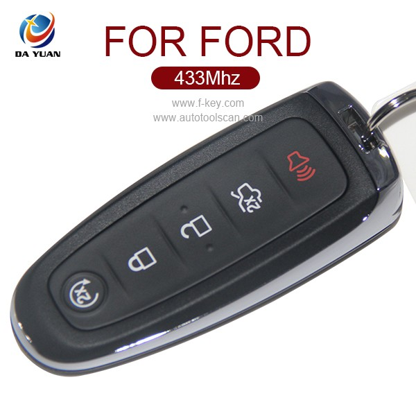 Professional car key for Ford Edge 5button smart key 433Mhz smart card (AK018044)