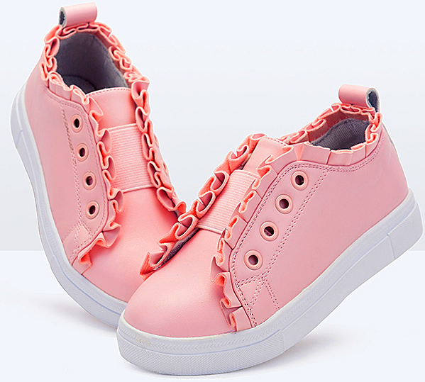 children loved cute color pink aqua purple patent PU colorful flat shoes girls sneakers running shoes for kids