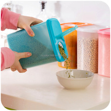 BPA-free Flip Top Cereal Keeper, Large Plastic Cereal Dispenser, Dry Food Storage Container with lid wholesale