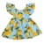 ZM075A/B 1-6 years old summer kids lovely fashion printed sleeveless baby girls dress