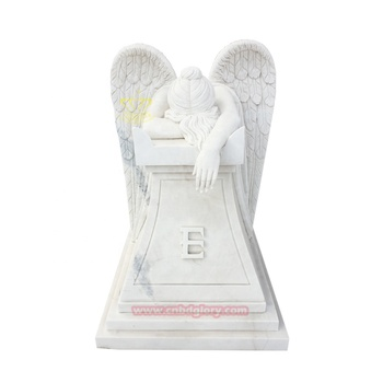 Cemetery Design marble Crying angel statue granite tombstone Use monument