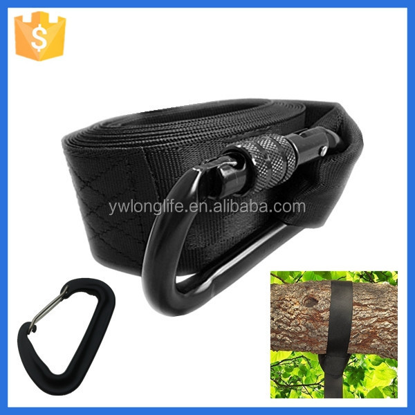 2016 hot selling black strong heavy duty tree swing straps