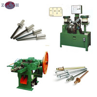 Aluminum pop rivet making machine for whole line