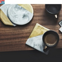 Marble ceramic coaster, heat resistant table pads, ceramic cup mat