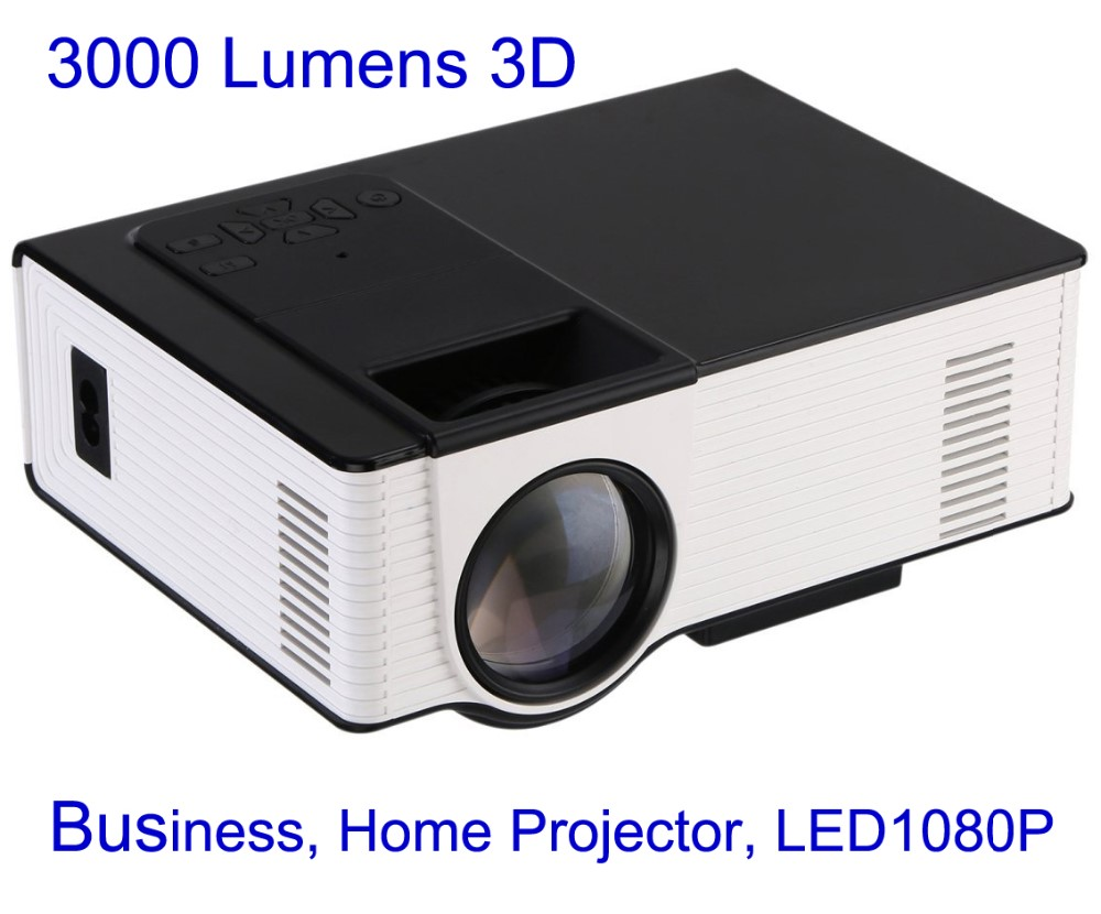 HD 3000 Lumens 3D Vedio Business Home <strong>Projector</strong>, LED1080P Keystone Correction,Cinema Support DVB-T TV HDM USB VGA TF