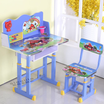 Cheap Kids Cartoon Study Table And Chair Kids Homework Table Buy