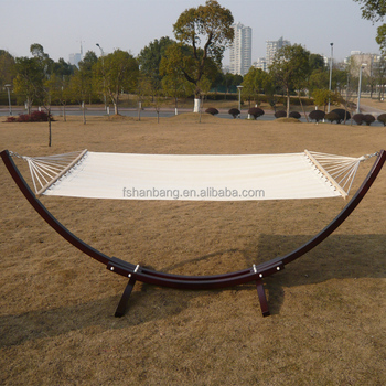 outdoor garden patio swing furniture free standing wood curved arc hammock chair stand double 2 person