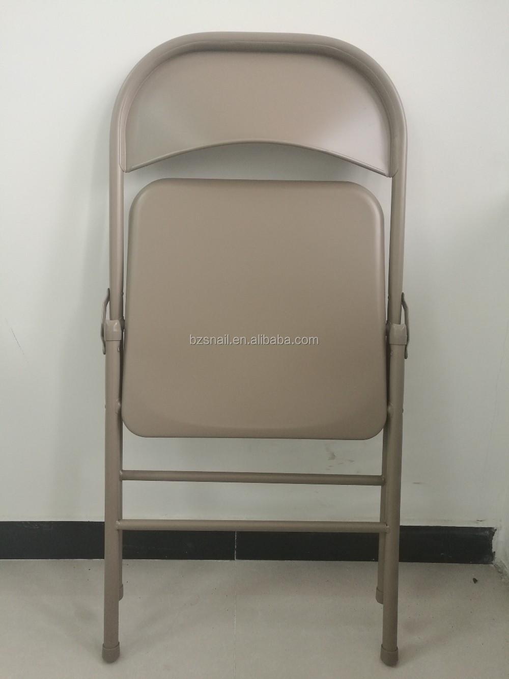 Modern Design Living Room Used All Steel Metal Folding Chair
