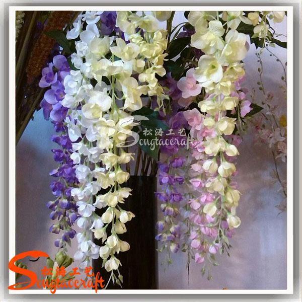 haute qualit artificielle wisteria fleur hot vente fleur de tissu fleurs artificielles id de. Black Bedroom Furniture Sets. Home Design Ideas