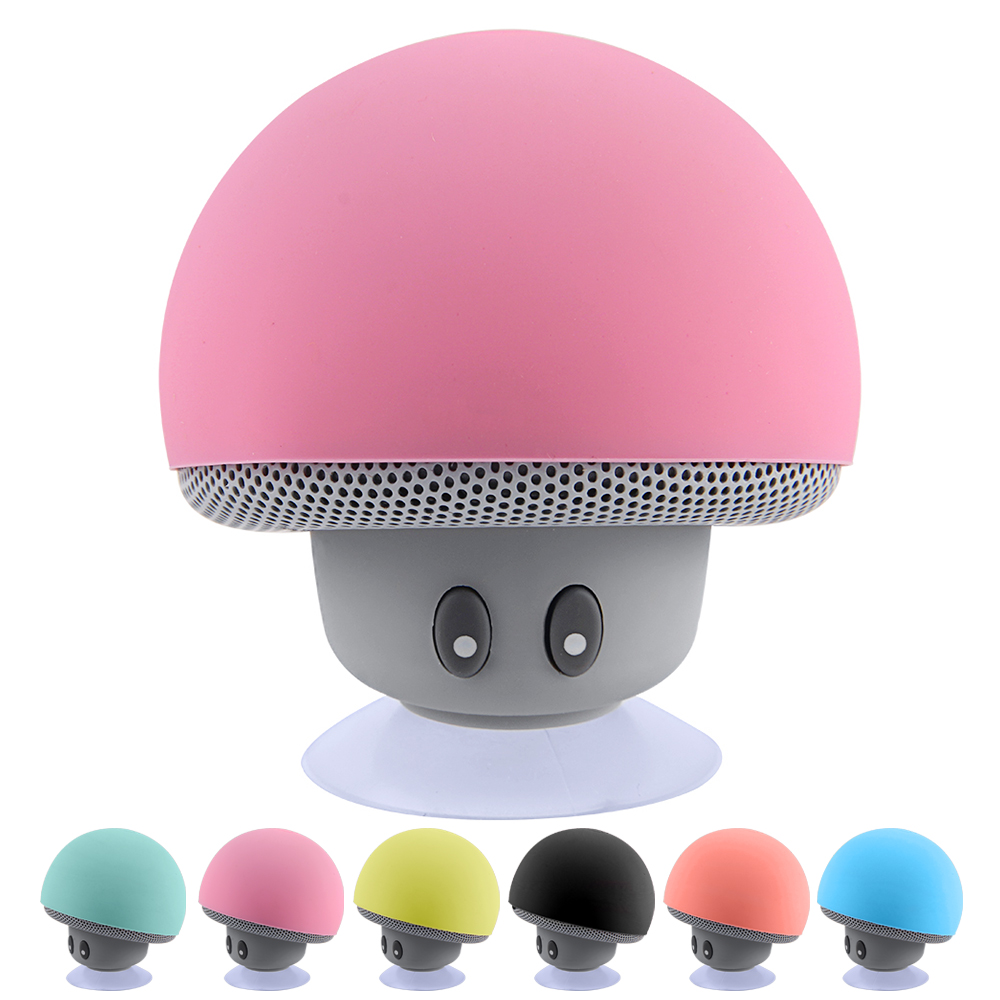 Mushroom Mini Wireless Blue tooth Speaker Sucker Cup Audio Receiver Music Stereo Subwoofer USB For ios Android Phone