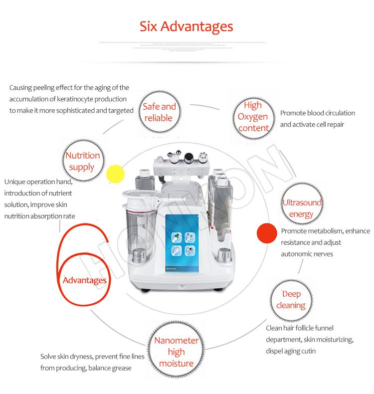 Professionale microdermoabrasione hydro dermoabrasione micro bolle buccia macchina per la pulizia del viso