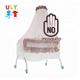 Foldable infant cot newborn baby bed with cradle mosquito net