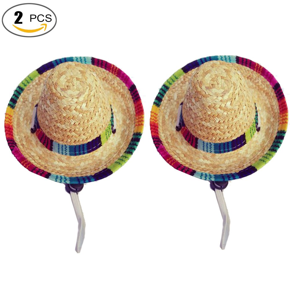 Running Pet Dogs Sombrero Hat Dogs Sun Hat Party Hats for Dogs Mexican  Style Hat for 94ad4726be7d