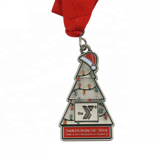 Classic stad award vakantie gift grappig run mode goud festival halloween kerstboom Kerstman wonderbaarlijke medaille