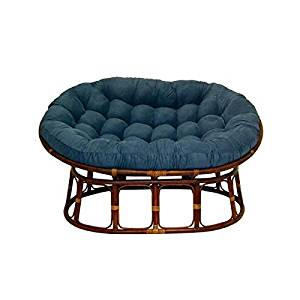 Get Quotations · Double Papasan Chair With Microsuede Cushion