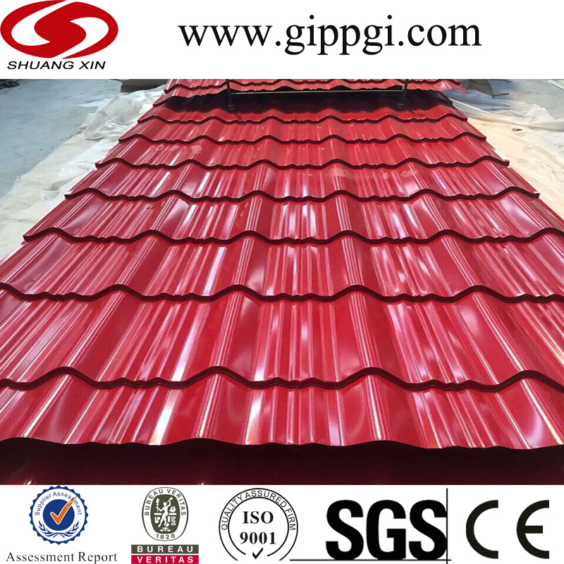 Ppgi Construction Material Color Steel Roofing Price List