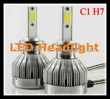 C1 Fanless Led Headlight 60w 6000lm for 880/881, H1, H3, H7, H8/H9/H11, 9005/H10/HB3, 9006/HB4, H16/5202, 9012