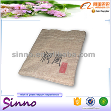 2016 Hot selling custom small canvas linen jewelry pouch bags