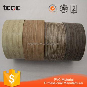 Plastic Wood Grain Finished Wood Veneer Edge Banding Tape - Buy Wood Grain  Veneer Tape,Plastic Wood Grain Tape,Pvc Egde Banding Product on Alibaba com