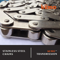 Double pitch stainless steel chain