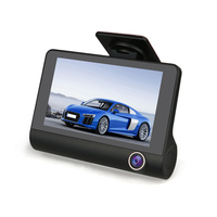 Factory Price 3 Record Tunnels HD 1080P/720P DASH CAM ,Special for Taxis with 4''TFT screen