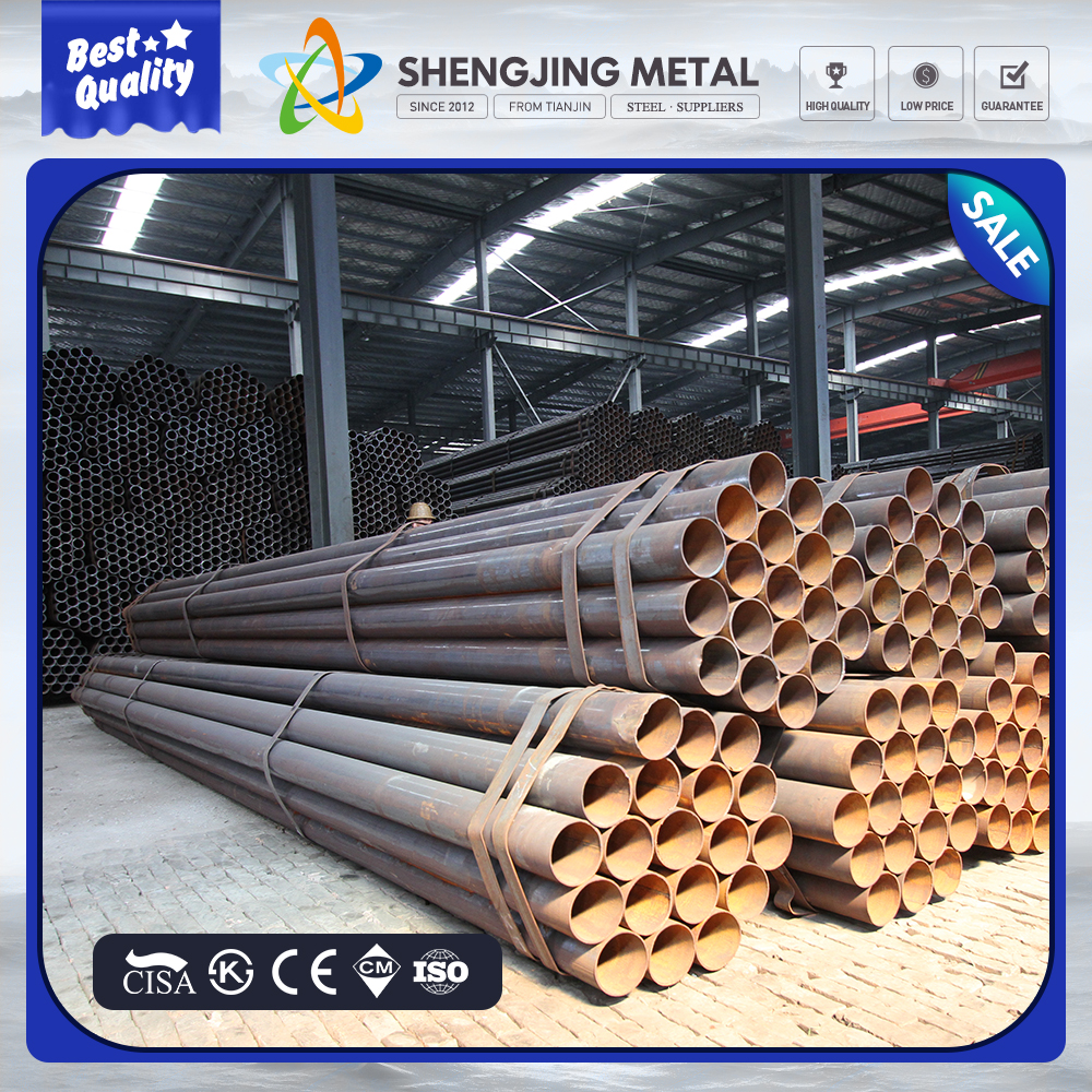 ERW Steel Pipe with 3 PE Anticorrosion for Building Construction Material