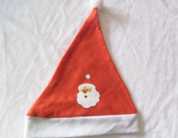 cf515aa04be9e5 christmas wholesale custom decorated red white felt hat shape wine topper  small santa hat craft bottle