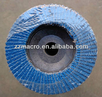 115mm Import Material Zirconia Abrasive Flap Disc With Glass Fiber ...