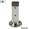 Polished stainless steel friction spigot for tempered glass fence panels