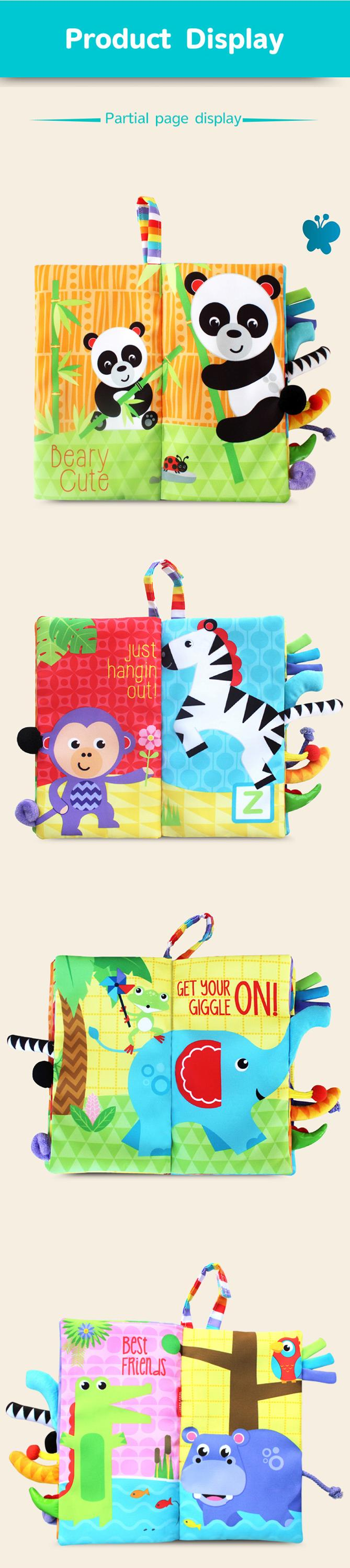 Early Learning kids Soft Cloth Quiet Book, Baby  Soft Cloth Book Set 3D Cloth Book