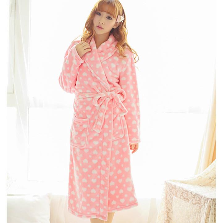 2014 осень зима толщиной ватки женщин фланель велет свободного покроя пижамы пижамы теплый гостиная ночной рубашке W179