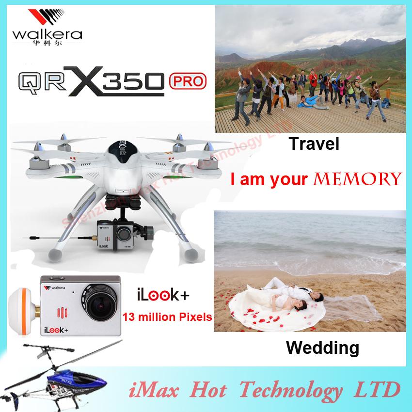 EMS Free Shipping Walkera Qr X350 Pro Drone 6ch Brushless Devo F7 F12E