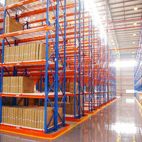 Display shelves and supermarket warehouse pallet racking