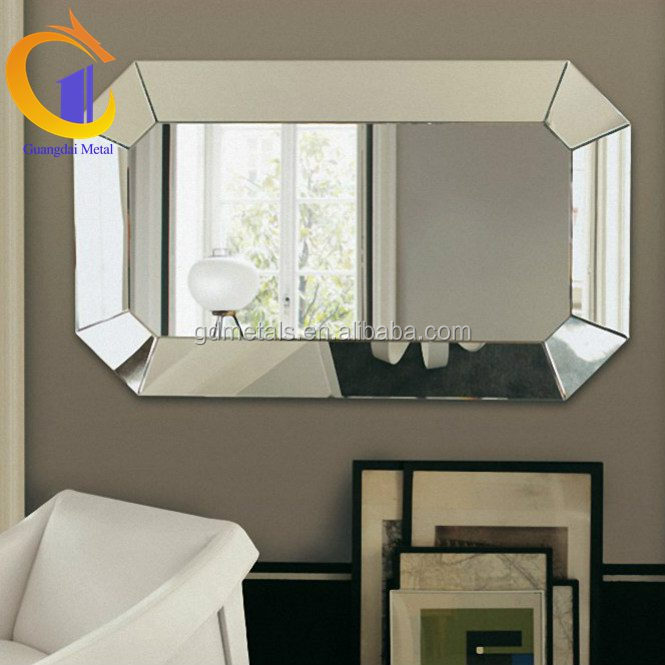 Wholesale elegant customized vintage metal stainless steel mirror frame for hotel
