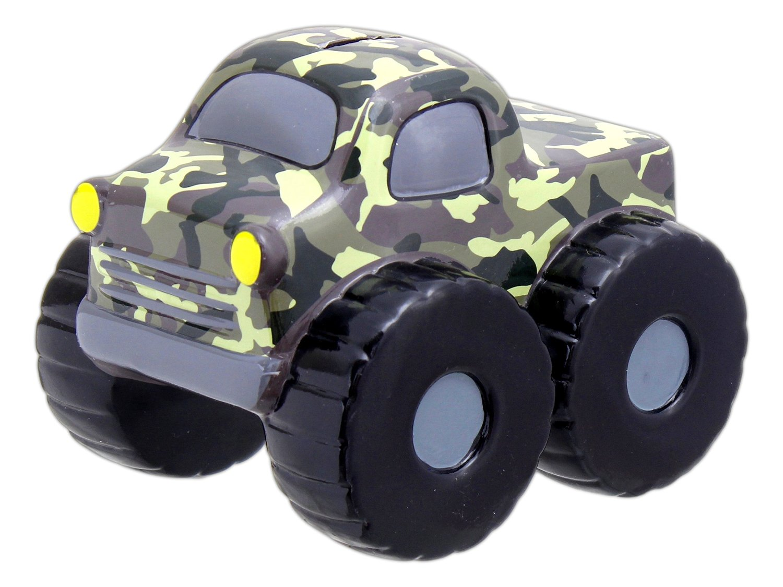 "Burton & Burton 8"" x 6.5"" Ceramic Camouflage Monster Truck Money Bank"