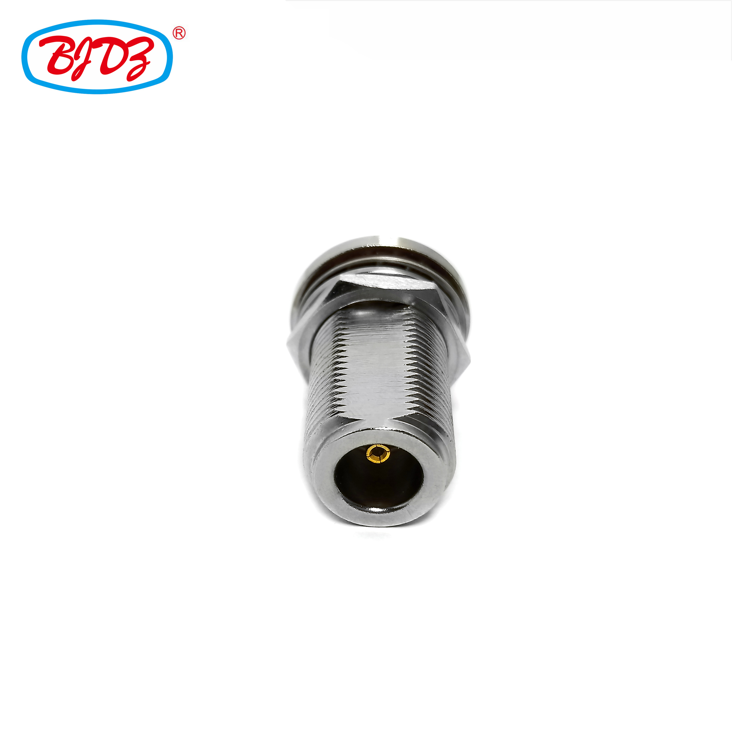 RF Coaxial cable connector BH bulkhead mounted F type female jack connector for cable rg174 rg316